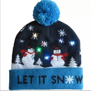 Christmas LED Light-up knitted Beanie New.